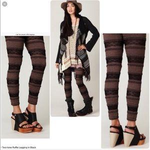Free People Pants - Free People Tiered Lace Leggings.